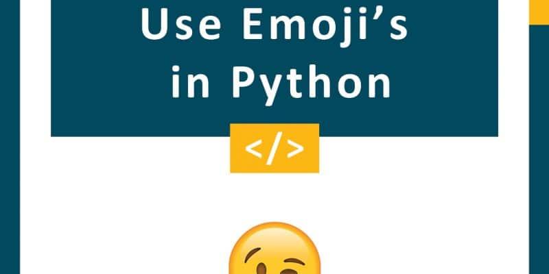 Use Emoji's in Python
