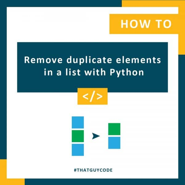 Remove duplicate elements in a list with Python